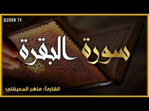 سورة البقرة بصوت الشيخ ماهر المعيقلي طاردة الشياطين اجمل اجمل تلاوة قران كريم Quran Karim Youtube Youtube Quran