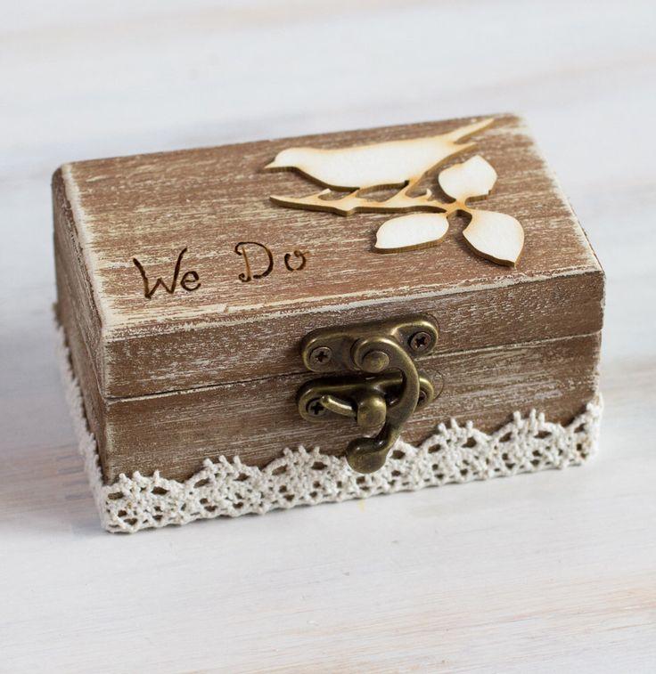 Ring Bearer Box Wedding Ring Box We Do Wedding Box Rustic Ring Bearer Box Custom Ring & 25+ cute Rustic ring bearers ideas on Pinterest | Burlap ring ... pillowsntoast.com