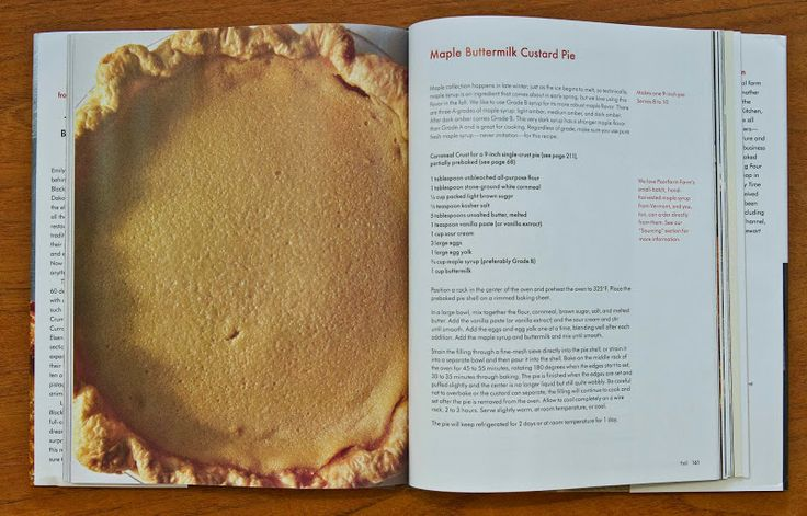 maple custard buttermilk pie, from four & twenty blackbirds cookbook