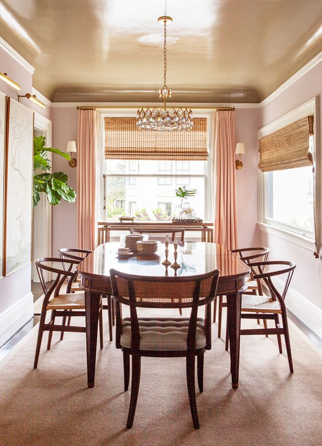 208 Best Pink Dining Rooms Images On Pinterest  Pink Dining Rooms Gorgeous Dining Room Color 2018