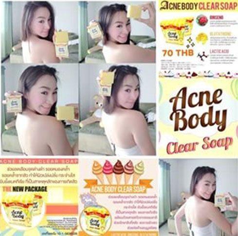 Original Thailand 100% by Beauty Secret ACNE BODY CLEAR SOAP adalah sabun anti-bakteri yang secara efektif membersihkan sampai kembali jerawat atau jerawat membandel di tubuh. Hal ini terbuat dari bahan-bahan alami yang dapat membantu mengurangi jerawat dan bekas luka jerawat sementara melembabkan k…