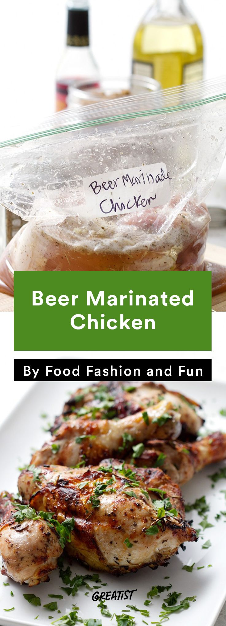 7. Beer-Marinated Chicken #healthy #beer #recipes http://greatist.com/eat/cooking-with-beer-recipes-to-always-have-on-tap