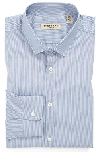 #Burberry London          #Tops                     #Burberry #London #Stripe #Tailored #Dress #Shirt #Medium #Blue               Burberry London Stripe Tailored Fit Dress Shirt Medium Blue 17L                                         http://www.seapai.com/product.aspx?PID=5316626