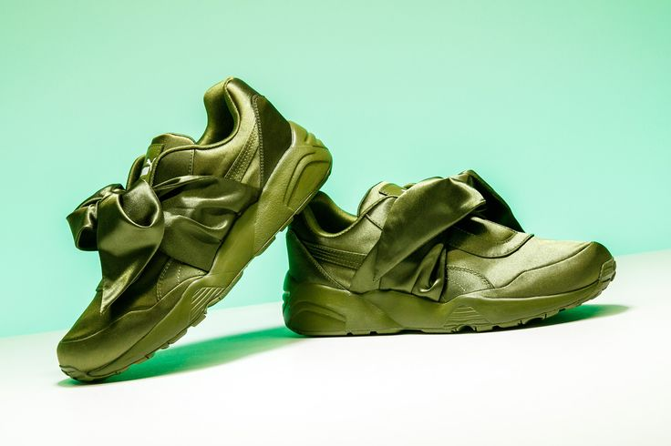 Ladies, add a little olive to your shoe rotation with the Rihanna x Puma  Fenty