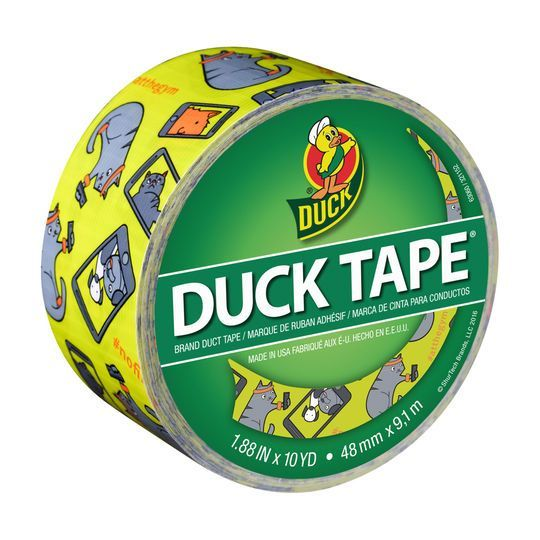 Color Duck Tape Brand Duct Tape, Selfie Cat