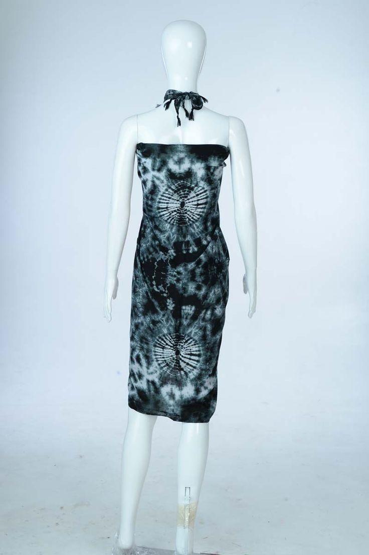 Sure Design Clothing Style - Womens Scarf-Tye Dye Scarf- Black - Thai Style