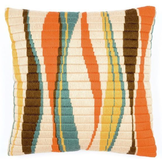 This wavy cushion is a warm and soothing addition to your living room or bedroom. A perfect cross stitch cushion panel kit for all stitching abilities, this gorgeous choice has a mix of subtle and bold colours to suit your particular style and taste.