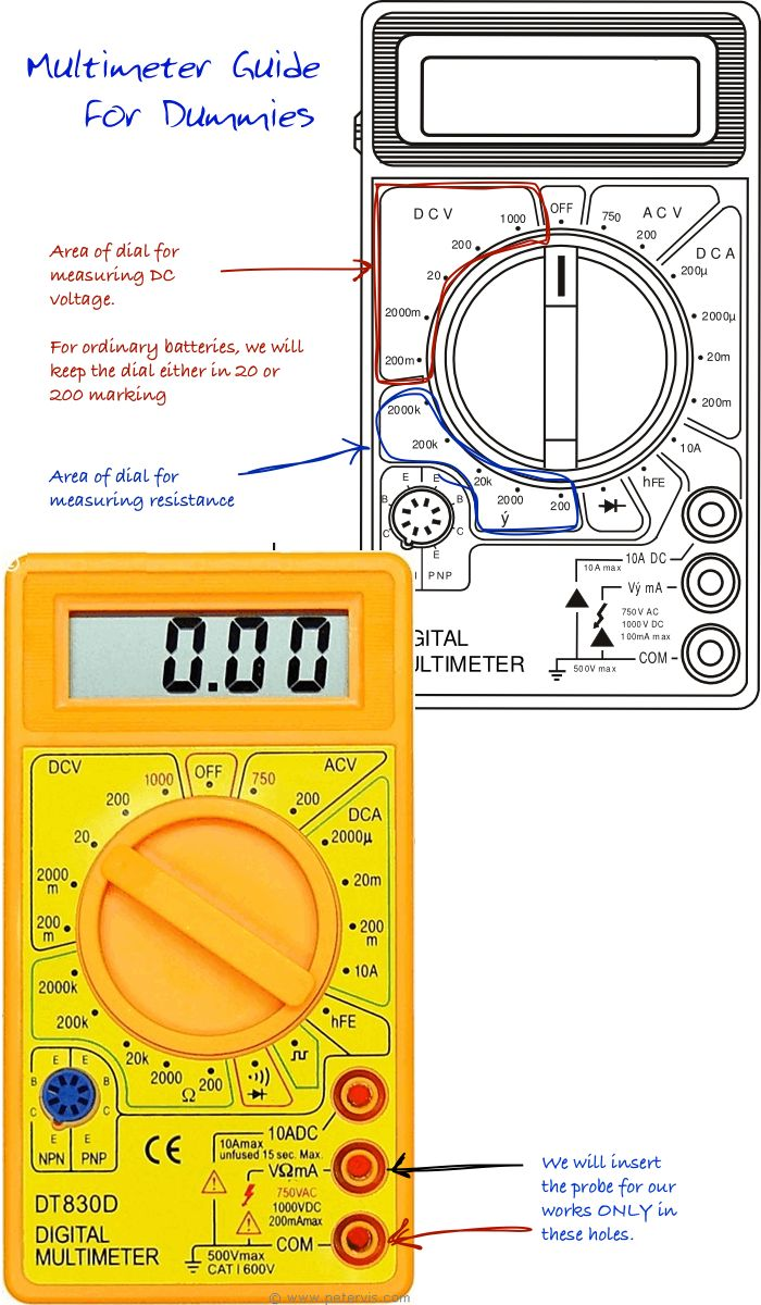 multimeter guide for dummies technology pinterest tools diy and diy electronics [ 700 x 1200 Pixel ]