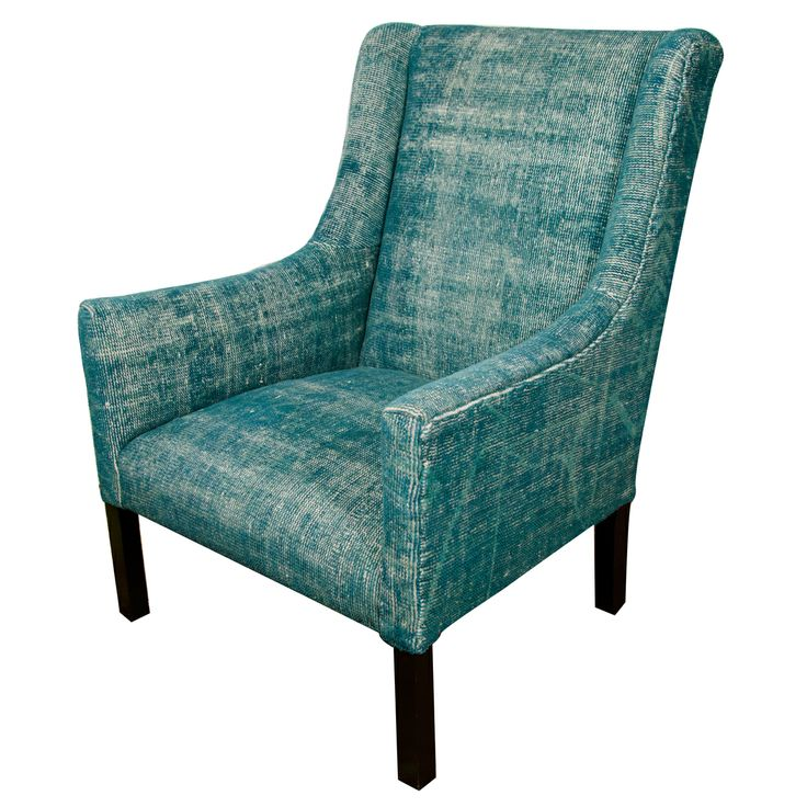 Best Indian Dhurrie Upholstered Teal Arm Chair Modern Chairs 640 x 480