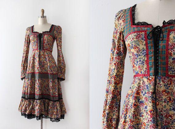 robe Gunne Sax vintage des années 1970 / / 70 s par TrunkofDresses