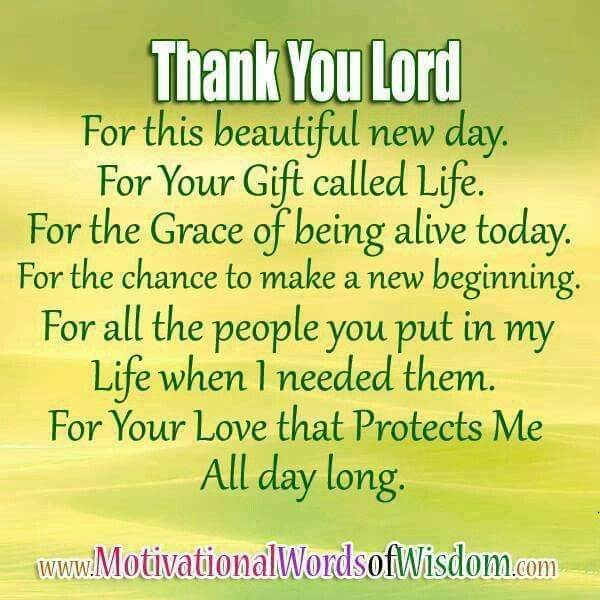 Thank you Lord                                                                                                                                                      More