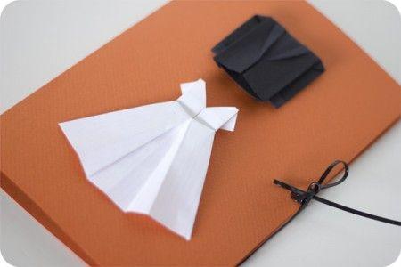 kort-bröllop-bröllopskort-inbjudningskort-klänning-brudklänning-brudgum-kostym-pyssel-papperspyssel-diy-inspiration