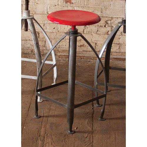 Metal Stool with Adjustable Seat