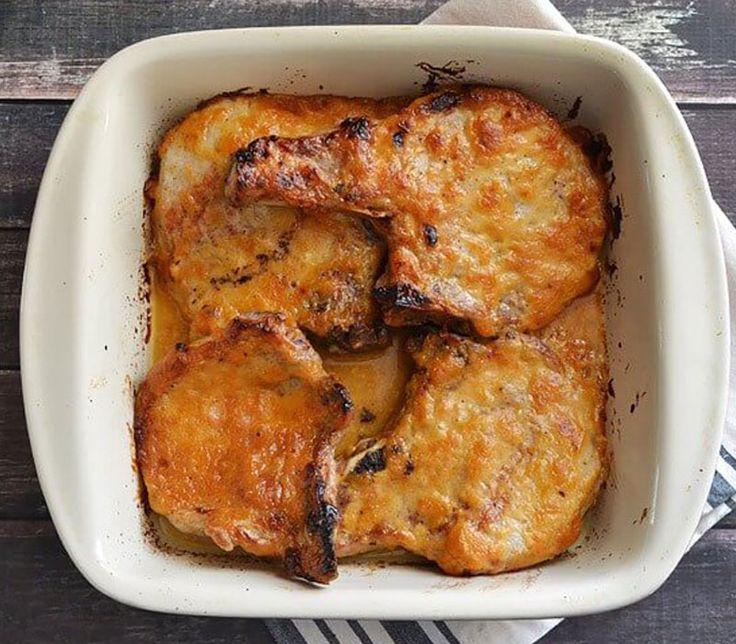 Χοιρινές μπριζόλες με μέλι και μουστάρδα