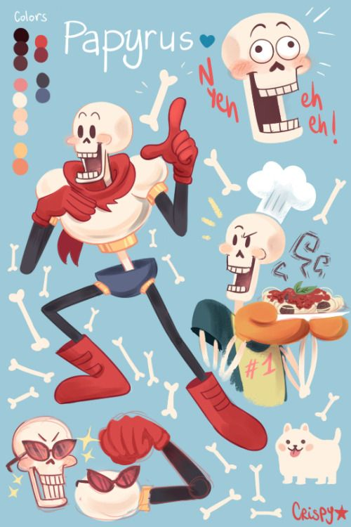 Undertale is such an incredible game-!! It's so hard to choose a favorite with all these colorful characters but I have to admit I have a soft spot for Papyrus (along with his brother), hE'S SO GREAT (more character fanart to come !! NowIpatientlyawaittoplay)