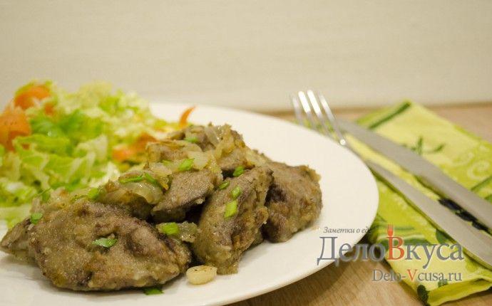 Рецепт приготовления куриной печени жареной с луком с пошаговыми фотографиями и видео рецептом