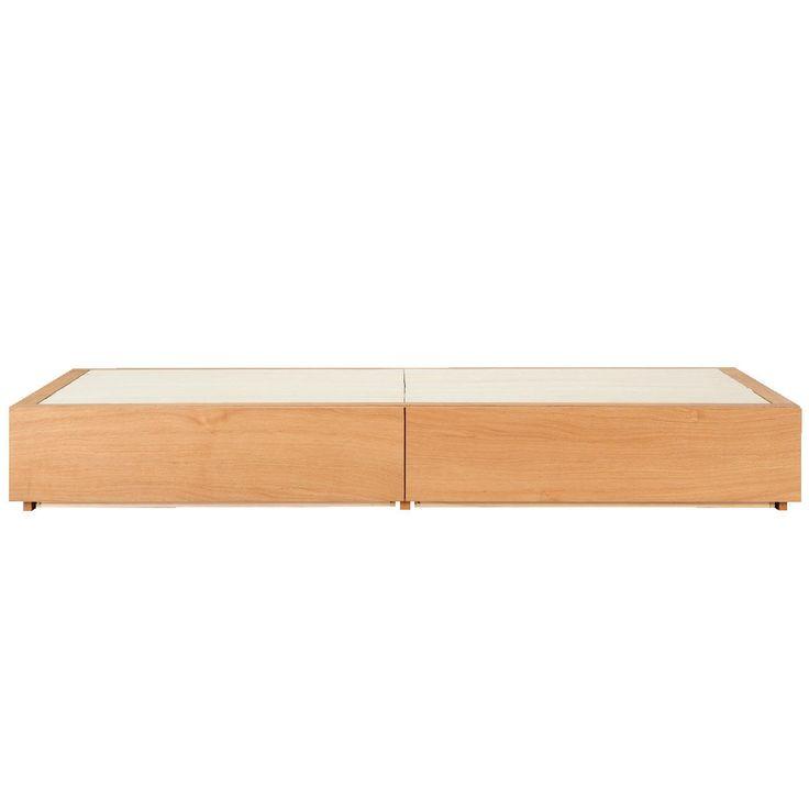 収納ベッド・スモール・オーク材 幅88.5×奥行201×高さ27cm   無印良品ネットストア
