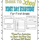 Fun First Day Activities for the First Day of First Grade!