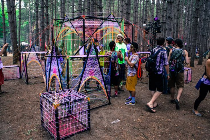 Art Installation . Neon . Electric Forest 2013 . Music Festival
