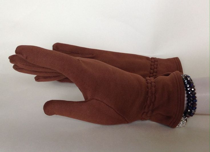 Tan Soft Fabric Vintage Gauntlet Gloves With Soft Cotton Fabric Lining Size 7.5  | eBay