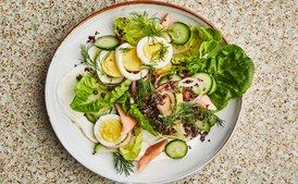 Breakfast Salad with Smoked Trout and Quinoa