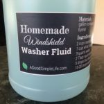 Easy, inexpensive, and effective, this homemade windshield washer fluid is a rain repellent too! Made with common household ingredients it's earth friendly.