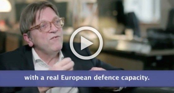 Watch! Verhofstadt calls for EU army and abolition of unanimity rule