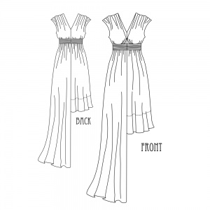 Grecian Sundress Technical Drawing