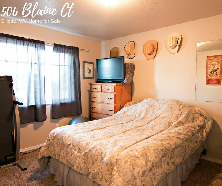 You'll find 3 spacious bedrooms at the tasteful two story home 506 Blaine Ct in Gillette, WY.