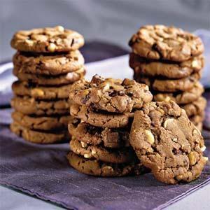 Chocolate Chunk-Peanut Cookies | MyRecipes.com