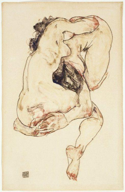 Egon Schiele, 'Two Figures' (1917)