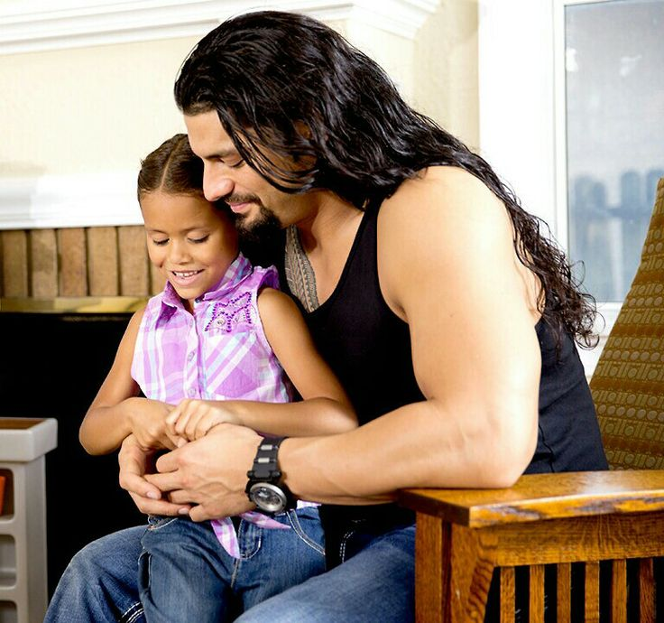 Roman Reigns with his daughter Joelle 'JoJo'