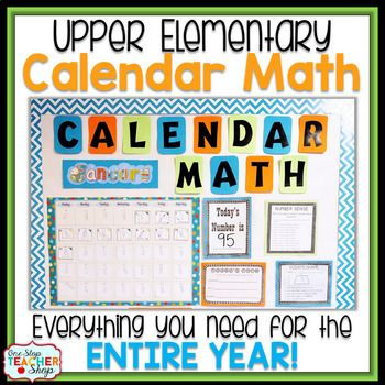 Whether you are looking to begin Calendar math in your classroom for the first time, or supplement your current calendar math program, this is the product for you!