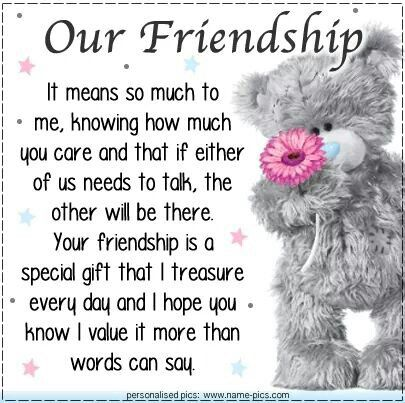 Our Friendship...I Value Very Much, Missing You Heaps Bella Donna xoxoxo