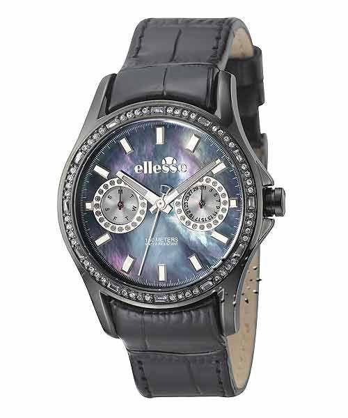 Από τη σειρά SPORTIVO της ELLESSE ένα αθλητικό ρολόι από Ανοξείδωτο ατσάλι και μαύρο δέρμα.