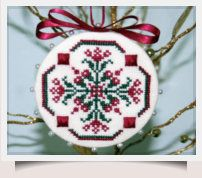How to Make a Pinkeep Ornament with free chart download.