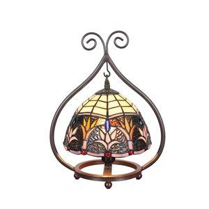 D20cm Tiffany Tischleuchte Gras Design 1-flammig im Schlafzimmer