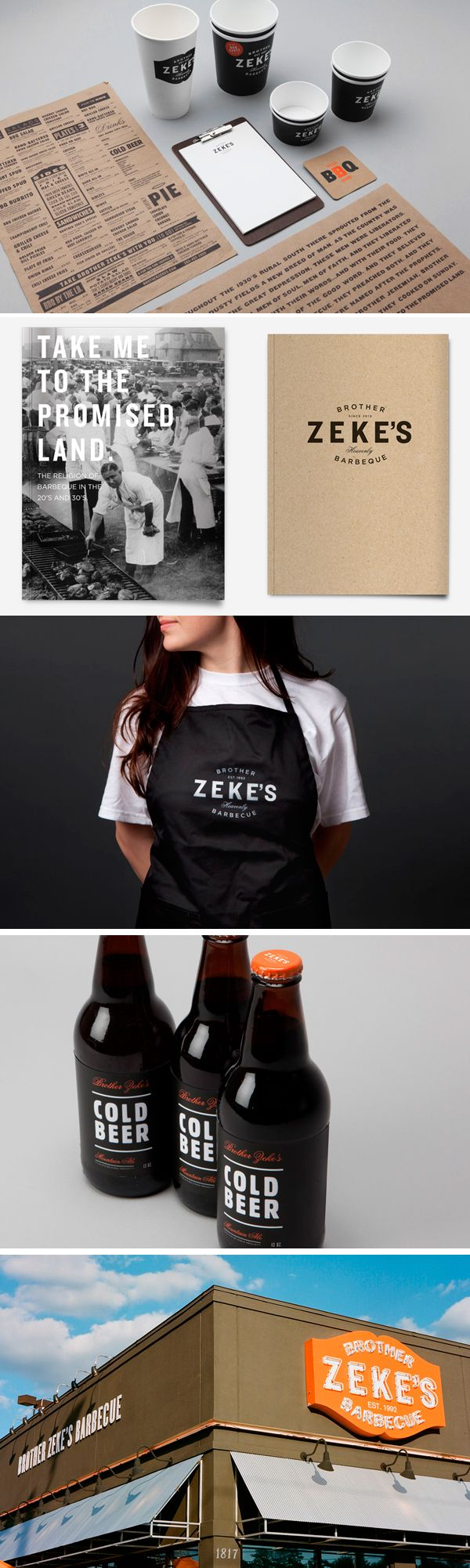 Lunchtime at zeke's bbq #packaging #branding PD