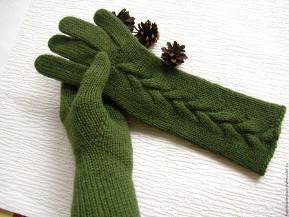 Длинные перчатки вязаные 100%шерсть Женские зимние перчатки анатомически правильной формы