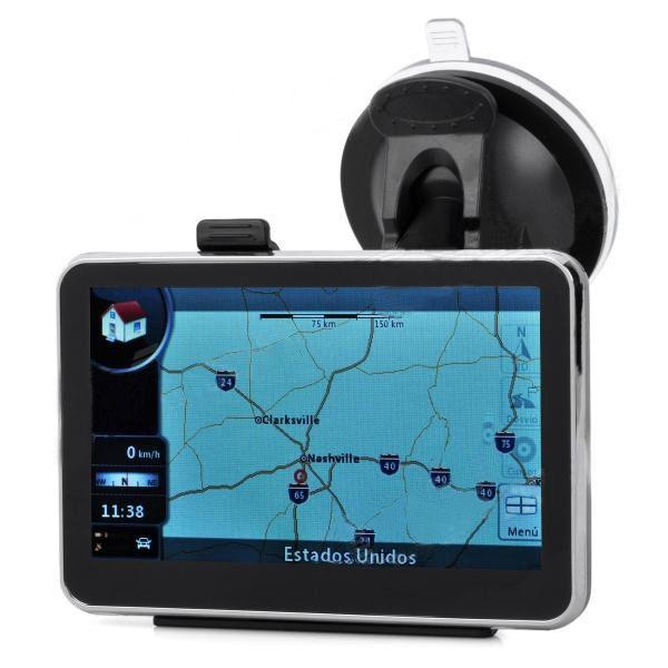 4.Memoria 4gb gps del coche navegador de 3 pulgadas con mapa 3D gratis
