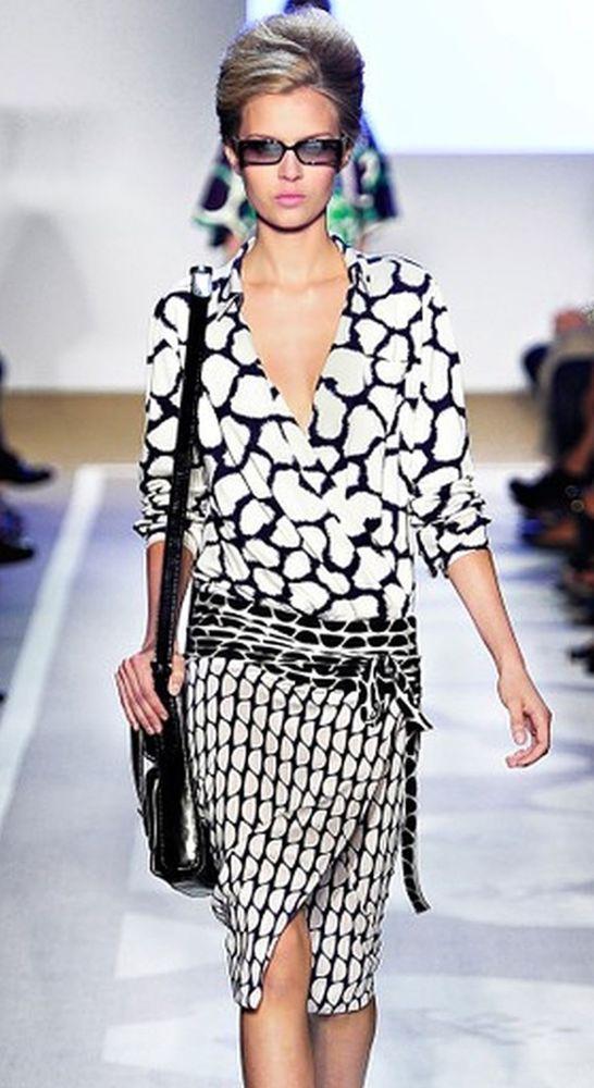 NEW NWT Diane von Furstenberg DVF Terry Shibori Giraffe Silk Wrap Dress US 2 #DVF #WrapDress
