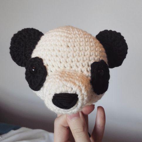 crochet free pattern panda pandabear