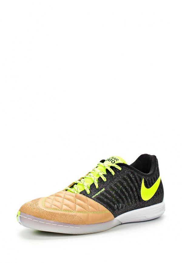Бутсы зальные Nike / Найк мужские. Цвет: коричневый, черный. Материал: натуральная кожа, текстиль. Сезон: Весна-лето 2014. С бесплатной доставкой и примеркой на Lamoda. http://j.mp/1l48Ghd