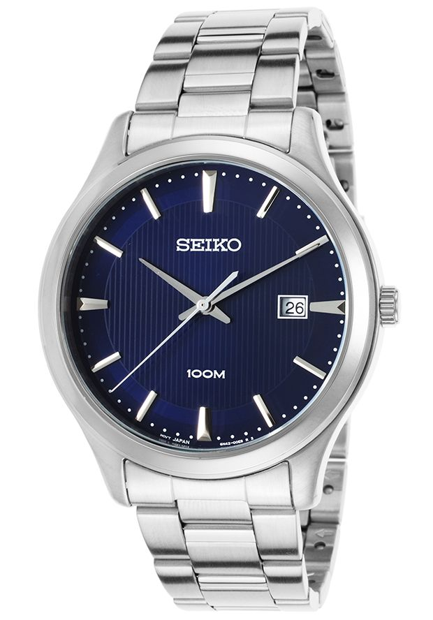 Men's Stainless Steel Blue Dial - Seiko Watch | 65% OFF