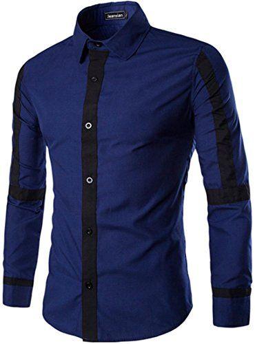 jeansian Men's Stripe Stitching Long Sleeves Dress Shirts 3 Colors 84C8 DarkBlue M jeansian http://www.amazon.com/dp/B01CFIFI3I/ref=cm_sw_r_pi_dp_.ZN1wb1BSJE22