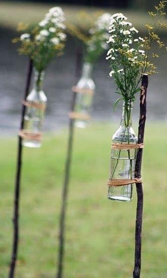 Vasen am Stock