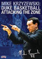 #Basketball DVD - Mike Krzyzewski: Duke Basketball Attacking the Zone -  Coach's Clipboard Basketball DVD Store