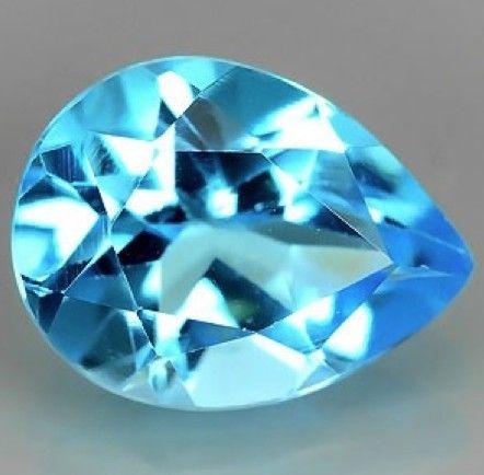 1.96 ct. Natural Swiss blue Topaz loose gemstone available on www.buygems.org #gemstone #topaz #gems #mineral #jewelry #luxury #buygems