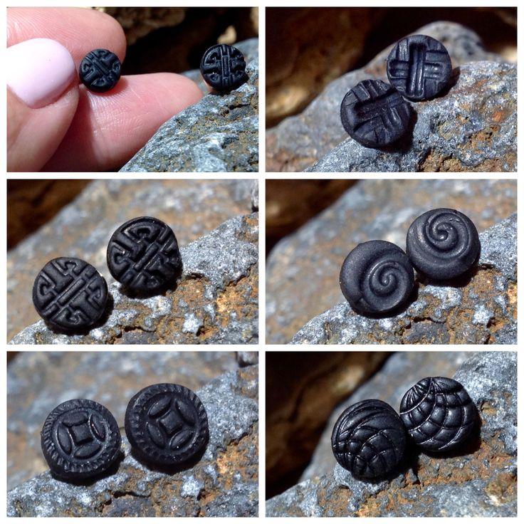 <b>Men</b> Viking Studs Black Earrings Men's Earrings <b>Male</b> Earring Black ...