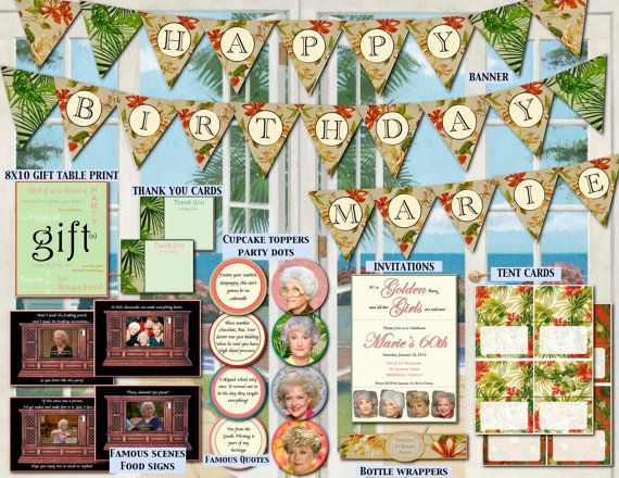 The golden girls birthday party decorations by for 15 years party decoration
